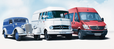 Old and new Mercedes-Benz Sprinters