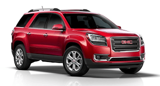 Red 2013 GMC Acadia