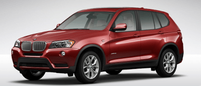 2013 BMW X3 xDrive35i vermillion red metallic