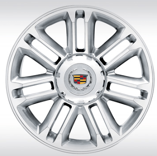 Cadillac Escalade 22-inch 7-spoke wheels machine finished
