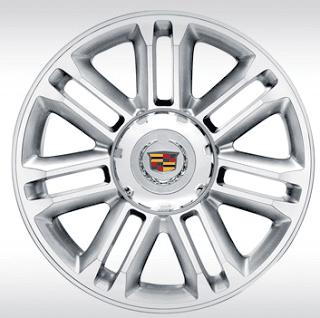 Cadillac Escalade 22-inch 7-spoke wheels machine finished