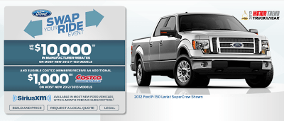 2012 Ford F-150 incentives in Canada