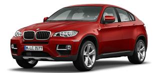 2013 BMW X6 vermillion red