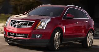 2013 Cadillac SRX red