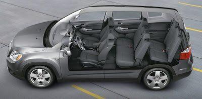 2013 Chevrolet Orlando interior cutaway