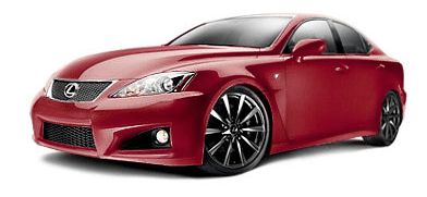 2013 Lexus ISF matador red