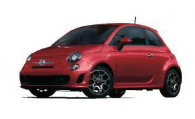 2013 Fiat 500 Turbo Rosso Red