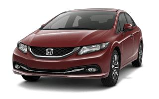 2013 Honda Civic sedan Crimson Pearl