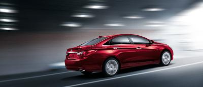 2013 Hyundai Sonata SE red