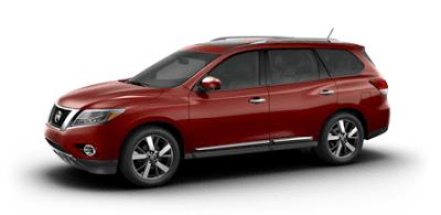 2013 Nissan Pathfinder Platinum Cayenne Red