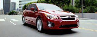 2013 Subaru Impreza sedan Venetian red