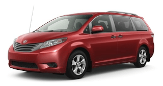2013 Toyota Sienna Salsa Red