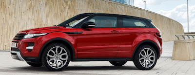 Land Rover Range Rover Evoque coupe red