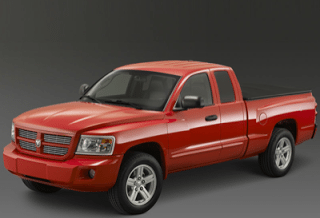 2008 Dodge Dakota red double cab