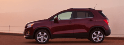 2013 Chevrolet Trax Red profile view
