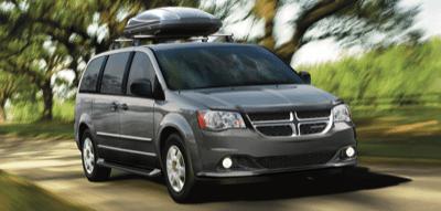 2013 Dodge Grand Caravan grey roof carrier