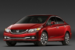 2013 Honda Civic sedan red