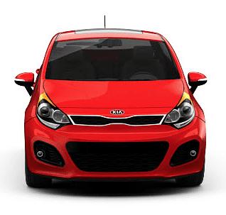 2013 Kia Rio 5-Door signal red