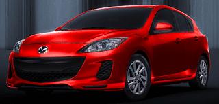 2013 Mazda 3 Sport hatchback Velocity Red