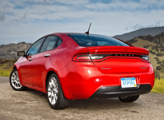 2013 Dodge Dart red rear