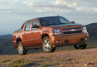 2007 Chevrolet Avalanche LTZ orange