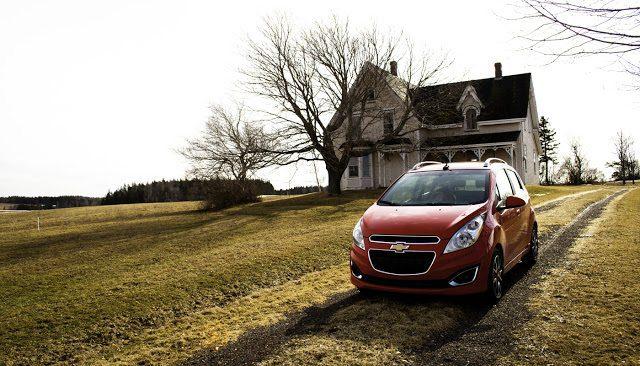 2013 Chevrolet Spark abandoned house Campbellton, PEI