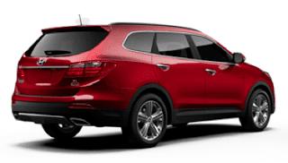 2013 Hyundai Santa Fe XL Regal Red rear view