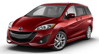 2013 Mazda 5 zeal red mica