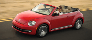 2013 Volkswagen Beetle Convertible red