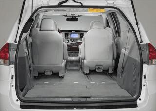 2011 Toyota Sienna cargo area seats folded