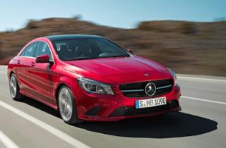 2014 Mercedes-Benz CLA-Class sedan red