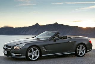 2013 Mercedes-Benz SL-Class grey top down