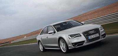 2013 Audi S8 silver race track