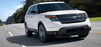 2013 Ford Explorer Sport white