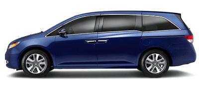 2013 Honda Odyssey Touring Elite blue