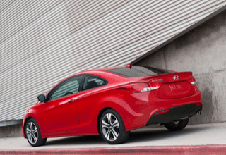 2013 Hyundai Elantra Coupe red