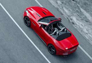 2013 Jaguar F-Type V8S red aerial view