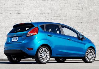 2014 Ford Fiesta hatchback blue
