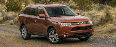 2014 Mitsubishi Outlander orange