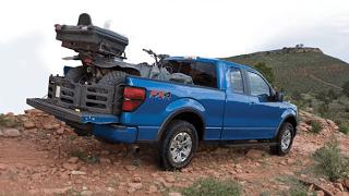 2013 Ford F-150 FX4 blue 4-wheeler