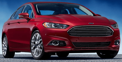 2013 Ford Fusion red