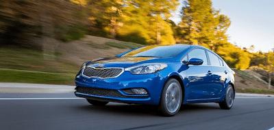 2014 Kia Forte blue sedan