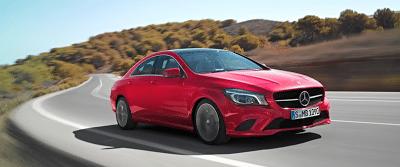 2014 Mercedes-Benz CLA-Class red
