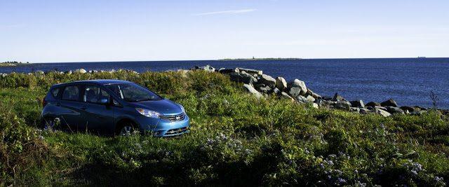 2014 Nissan Versa Note SL front Devils Island
