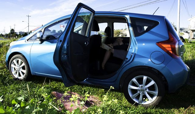 2014 Nissan Versa Note rear seat