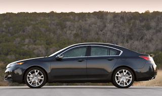2012 Acura TL side view black