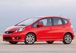 2012 Honda Fit Sport red