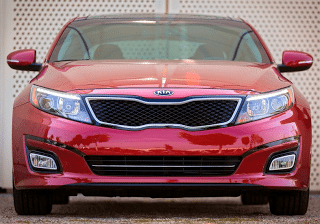 2014 Kia Optima front angle red