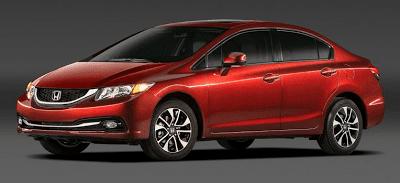 2013 Honda Civic sedan red