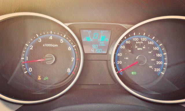 2014 Hyundai Tucson GLS AWD gauge cluster
